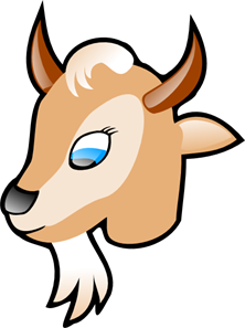 222x297 Cartoon Goat Head Png, Svg Clip Art For Web