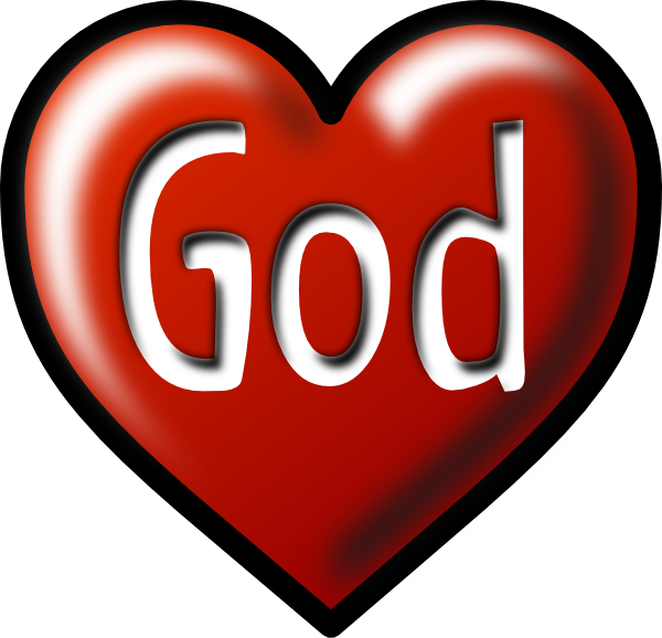 600x578 Heart God White Background Clip Art