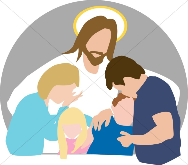 776x681 Jesus Comforts Family In Grief Church People Clipart