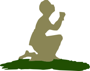 300x235 Kneeling Praying God Clip Art