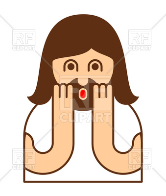 339x400 Oh My God Jesus Emotion Icon Royalty Free Vector Clip Art Image