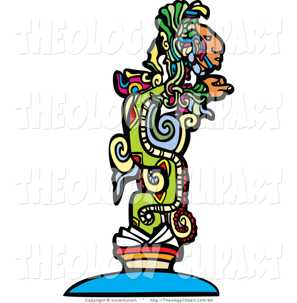 1024x1044 Clip Art Of A Mayan God Design By Xunantunich