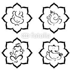 236x236 Ganesha Line Drawings