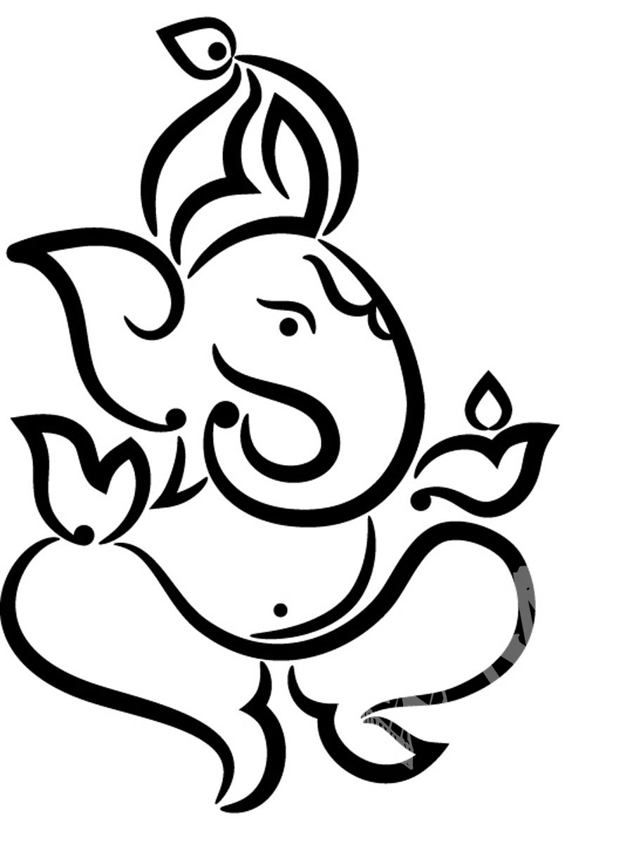 900x1200 Lord Ganesha's Simple Drawing