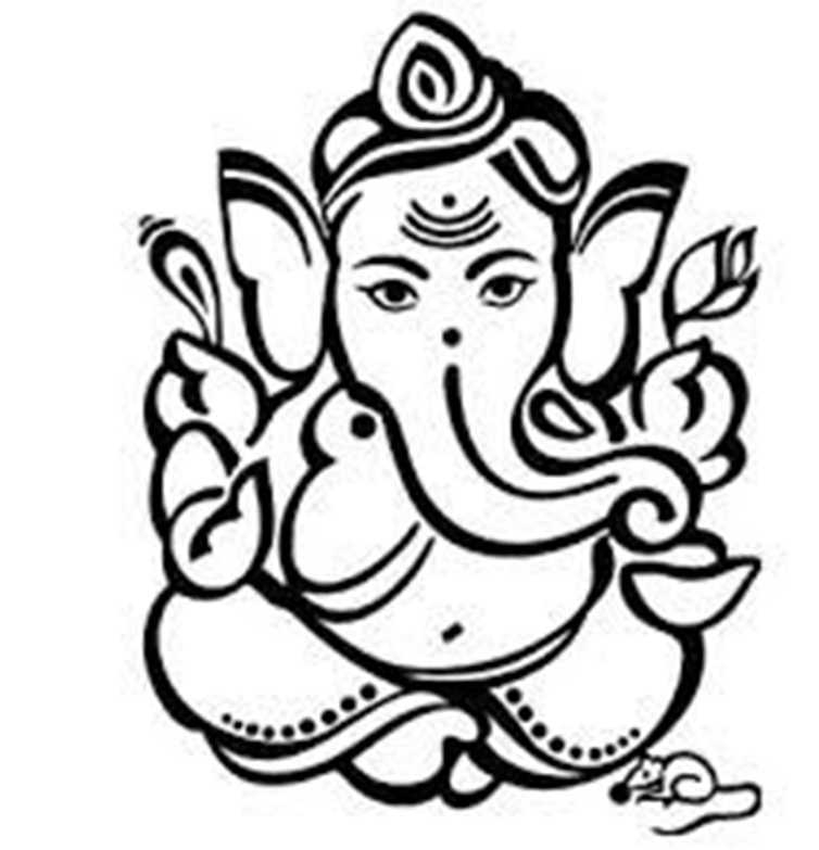 754x783 Top 10 Lord Ganesha Black And White Images