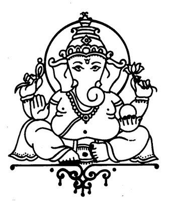 336x400 Ganesh Drawing
