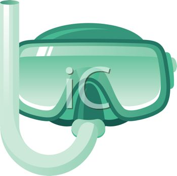 350x348 Royalty Free Clip Art Image Scuba Diving Goggles And Snorkel