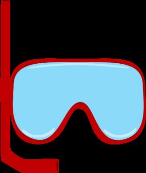 285x339 Snorkle Goggles Clip Art