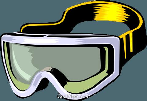 480x330 Skiing Goggles Royalty Free Vector Clip Art Illustration Spor0184