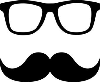 340x278 Free Glasses And Gray Mustache Clip Art Clipart Image