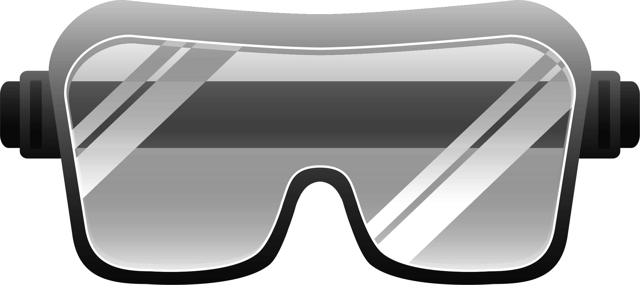 2244x1000 Grey Safety Goggles Clipart