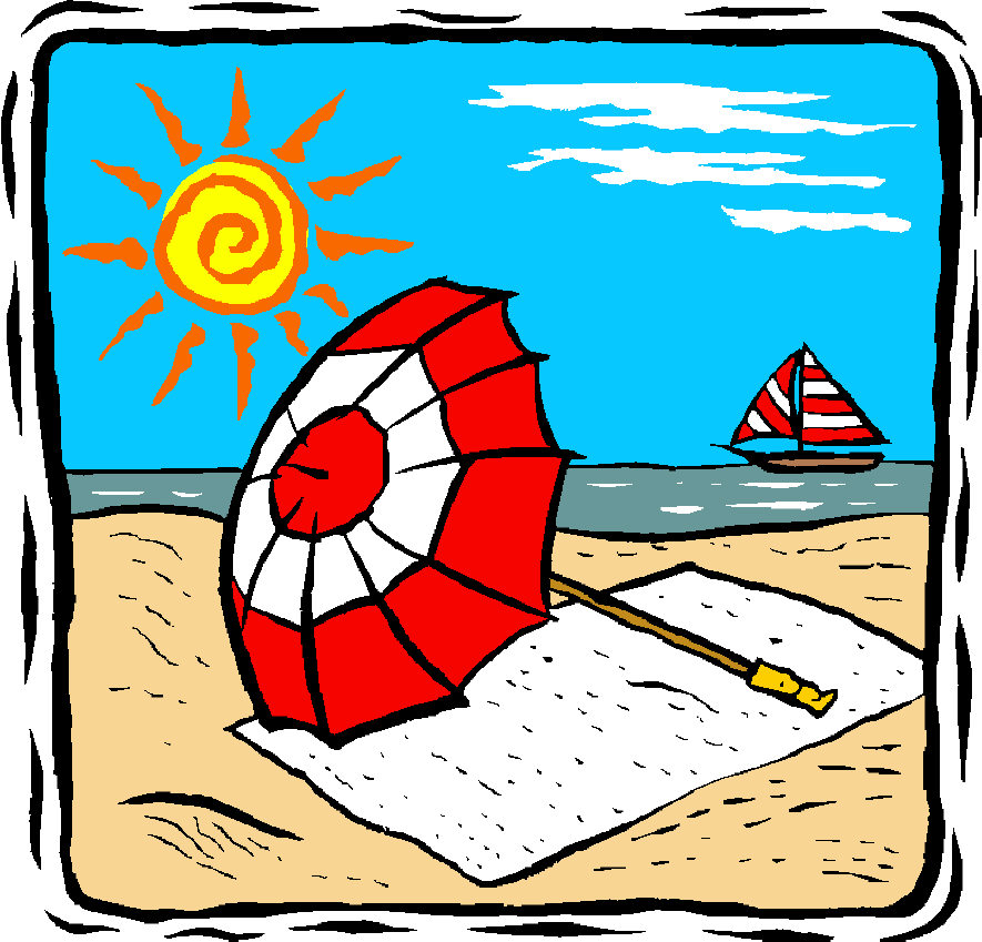 885x849 Graphics For June Beach Clip Art Graphics