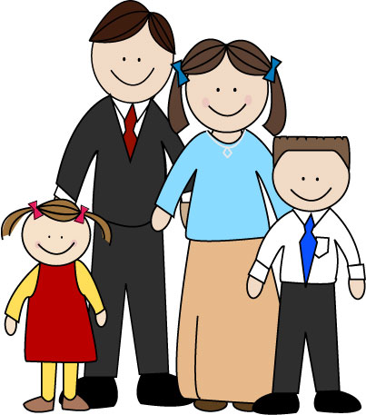 403x457 Image Of Extended Family Clipart