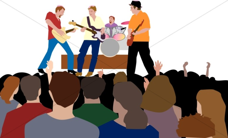 776x470 Youth Rock Concert Worship Clipart