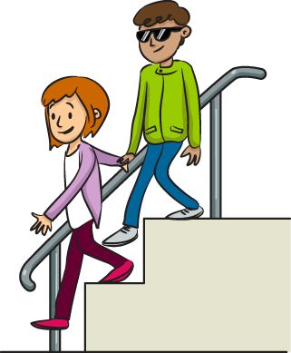 321x389 Going Down Stairs Clipart