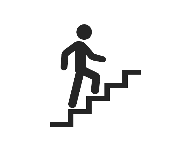 640x506 Man Walking Up Stairs Clipart