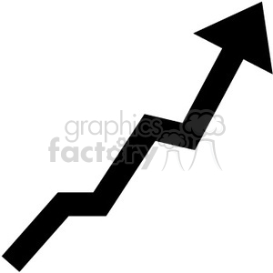 300x300 Royalty Free Graph Going Up 390070 Vector Clip Art Image