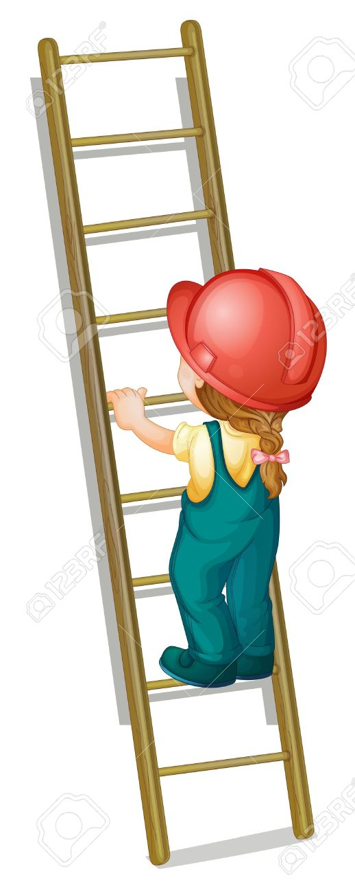 518x1300 On Ladder Clipart
