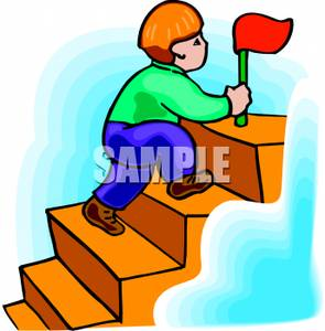 295x300 Child Clipart Climbing Stair