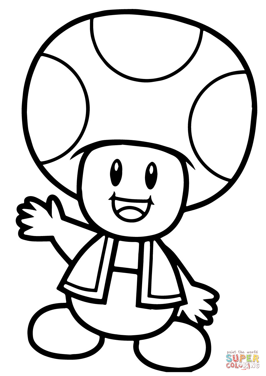 919x1300 Super Mario Bros. Toad Coloring Page Free Printable Coloring Pages