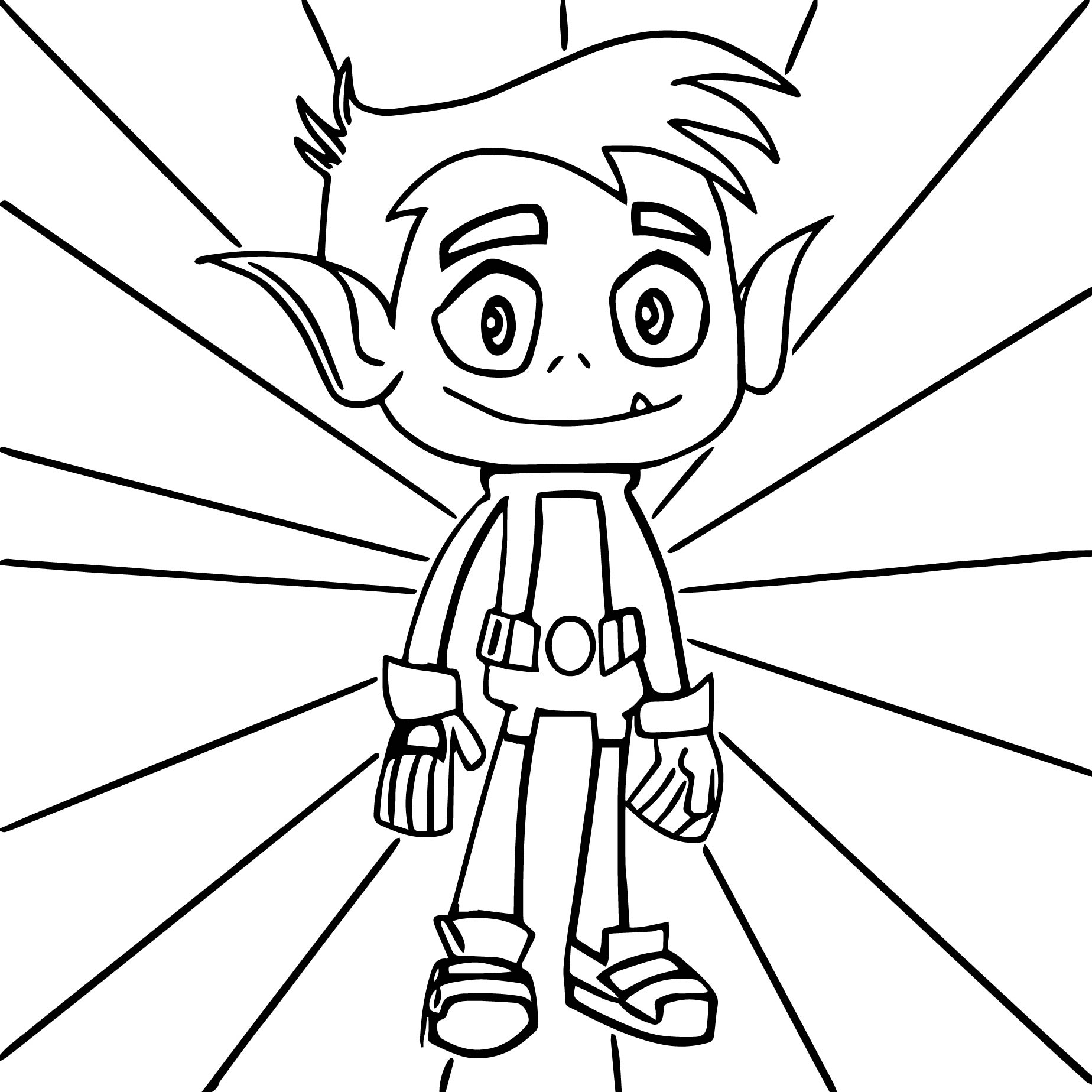 1848x1848 Teen Titans Go Beast Boy Coloring Pages Wecoloringpage