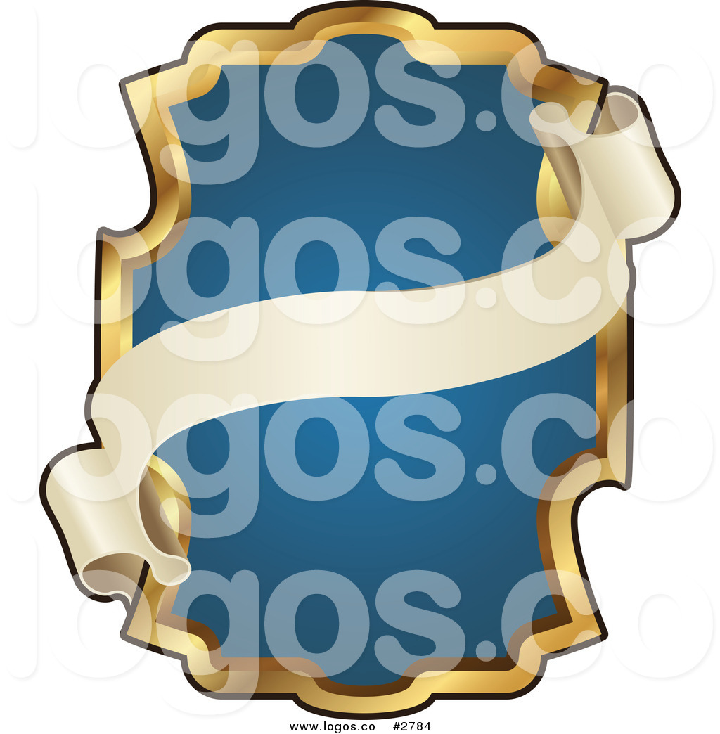 1024x1044 Royalty Free Ornate Blue And Gold Banner Frame Logo By