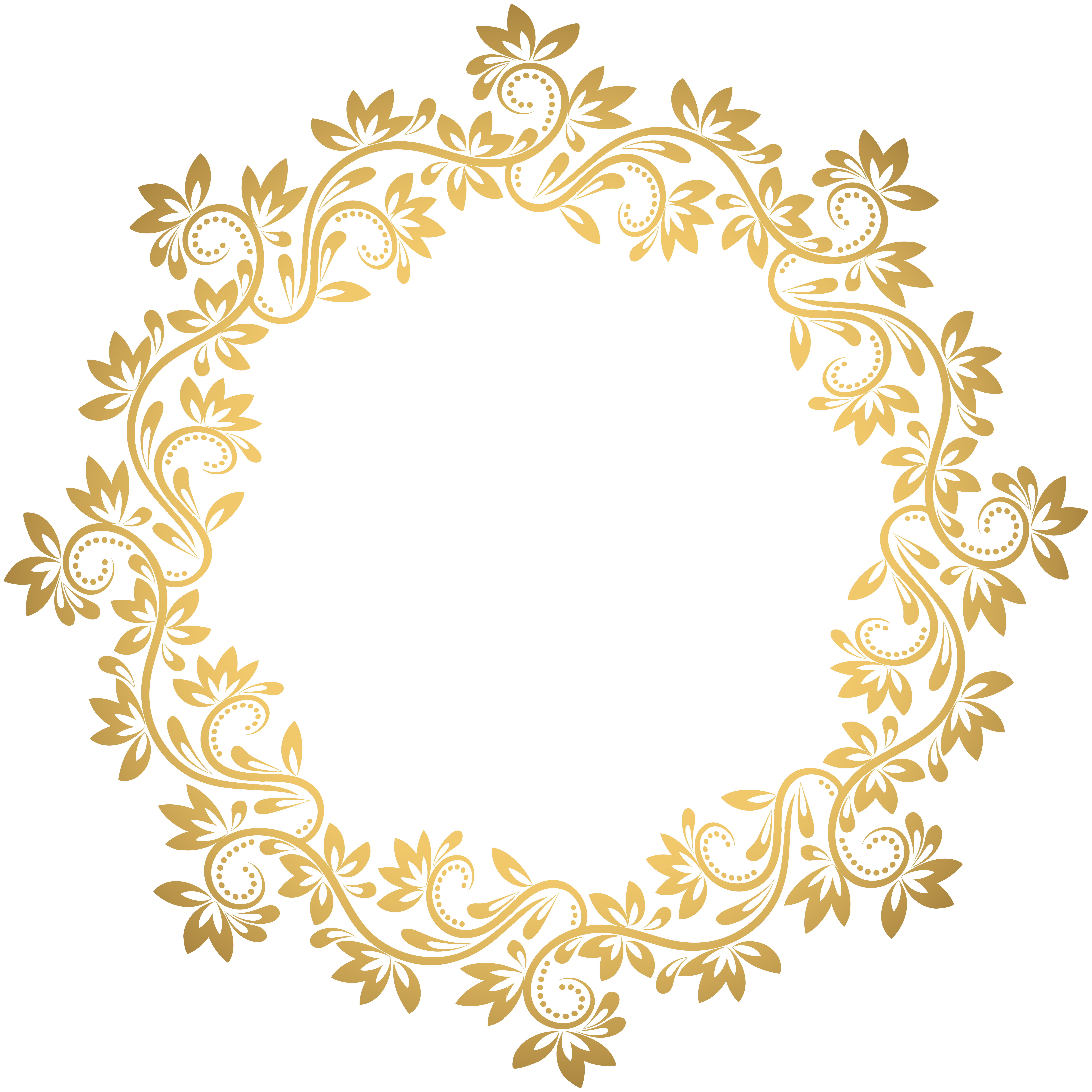 8000x8000 Gold Deco Round Border Png Transparent Clip Artu200b Gallery