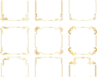 340x270 Square Clipart Gold Frame