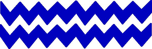 600x196 Blue Chevron Border Clip Art