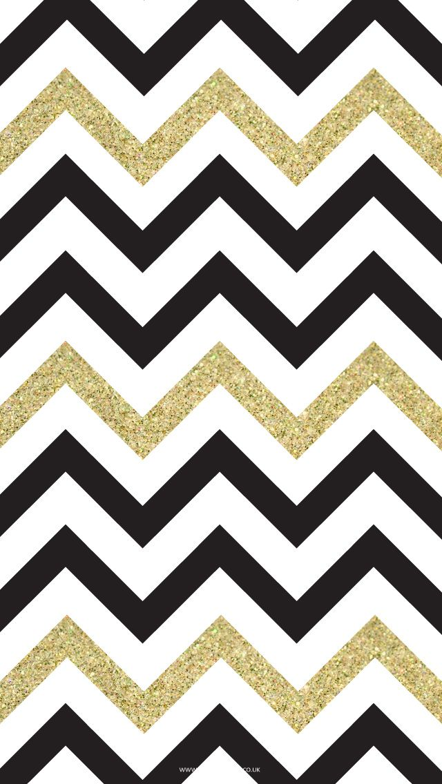 640x1136 And Gold Chevron Clipart