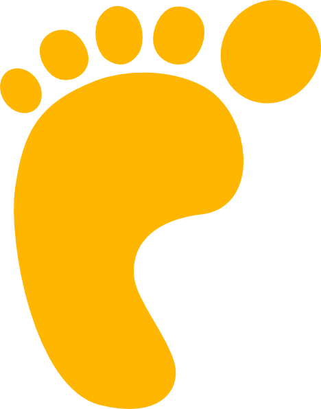 468x596 Gold Footprint Clip Art