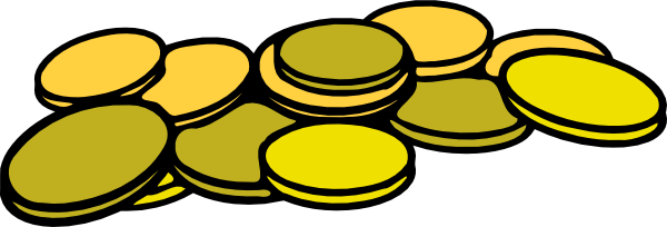 600x204 Nickel Clipart Coin Clip Art Gold Coins 2
