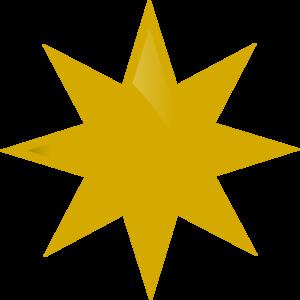 300x300 Gold Star Clip Art