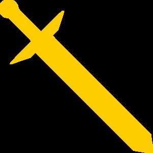 300x300 Gold Sword Clip Art