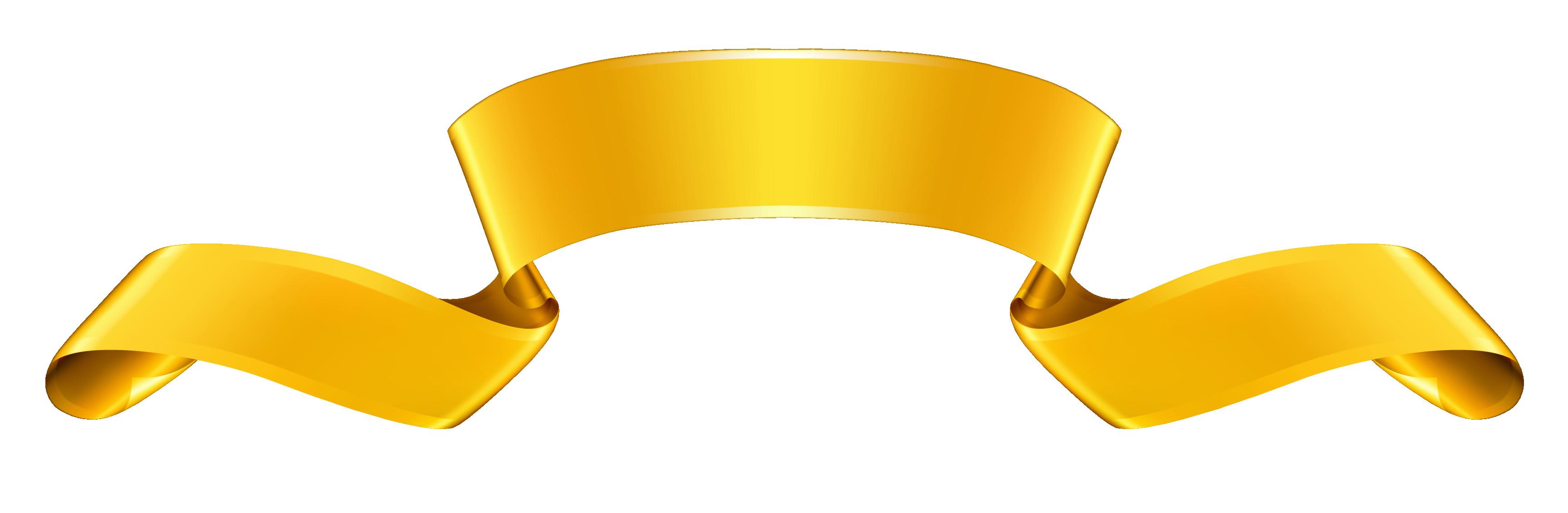 3456x1131 Gold Banner Clipart