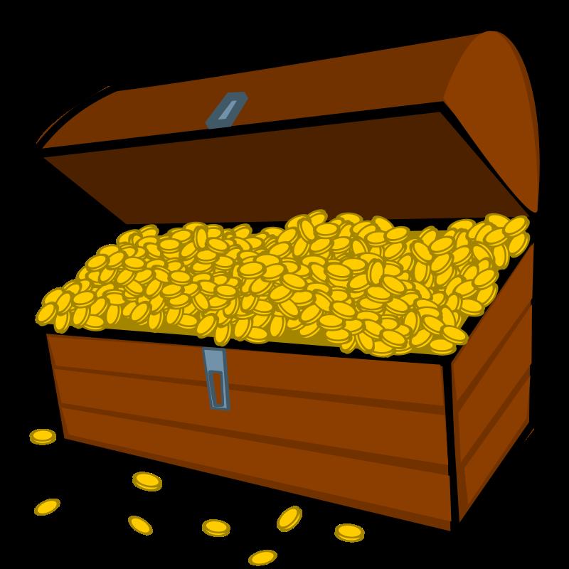 800x800 Treasure Chest Gold Clip Art Download Image