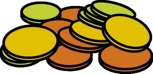 512x248 Coins Clip Art