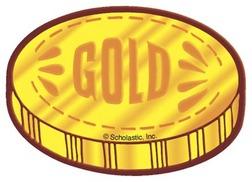 252x182 Gold Coin Clip Art