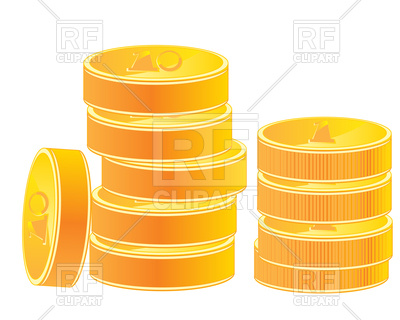 400x320 Gold Coins Royalty Free Vector Clip Art Image
