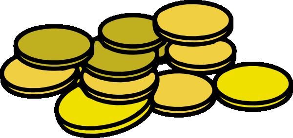 600x284 Gold Coins Clip Art