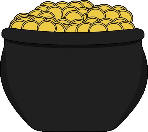 500x447 Pot Of Gold Clip Art