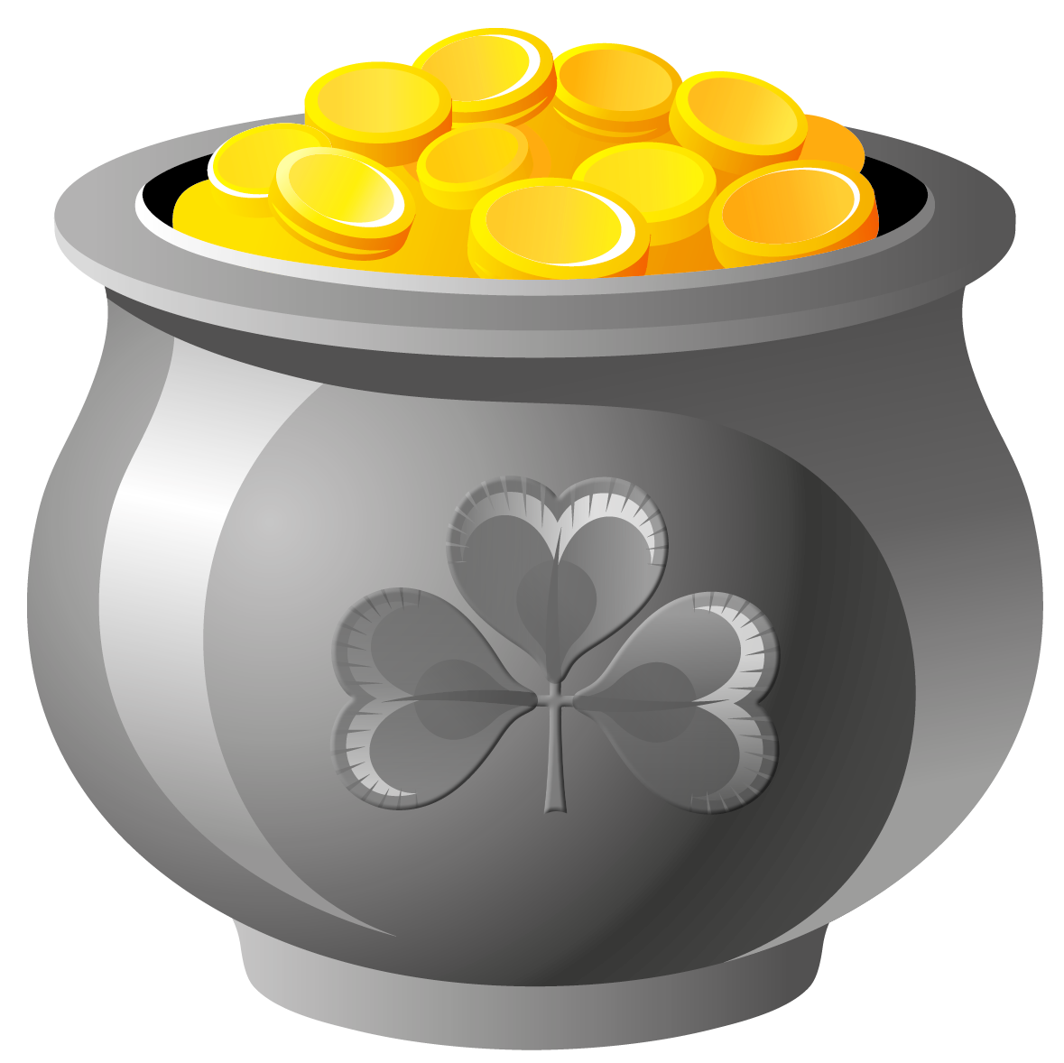 1179x1178 St Patrick Pot Of Gold With Coins Png Pictureu200b Gallery