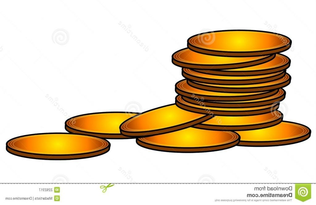 1024x664 Top Gold Coins Clip Art Image