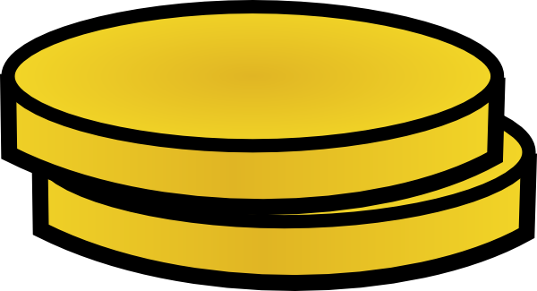 600x325 Two Gold Coins Clip Art