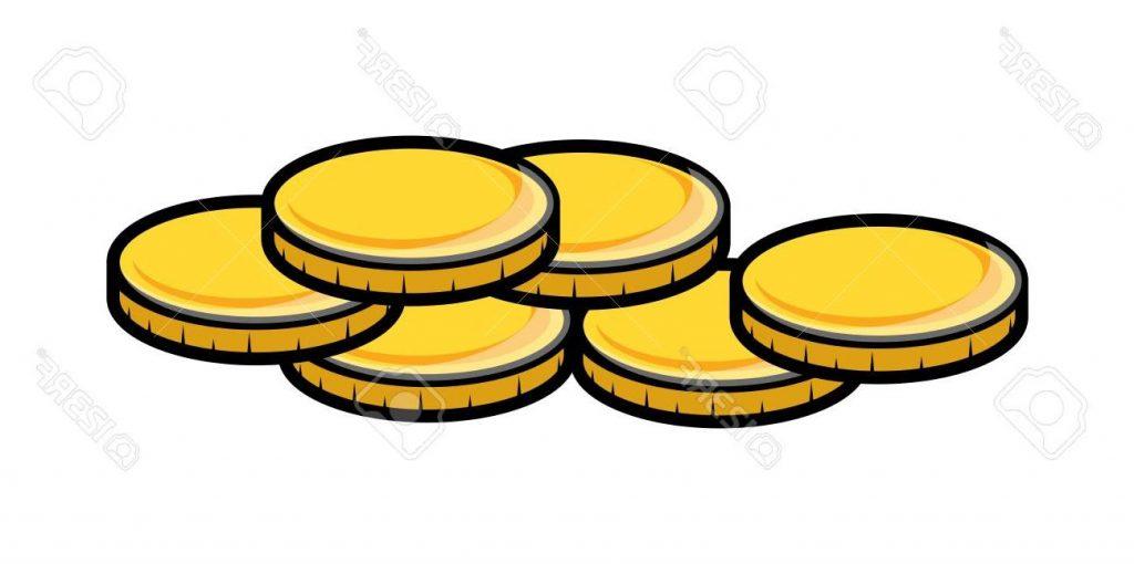 1024x510 Unique Cartoon Gold Coins Clipart File Free