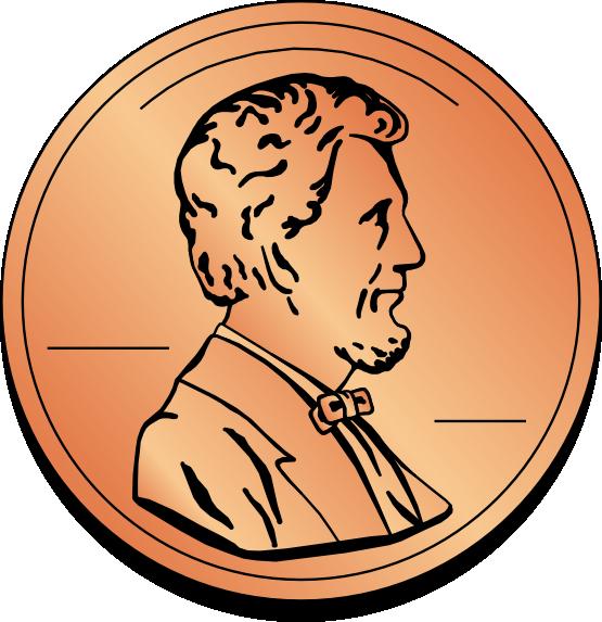 555x573 Penny Clip Art Gold