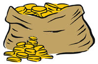 200x131 Clipart Bag Of Coins