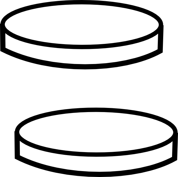 600x597 Two Clear Coins Clip Art