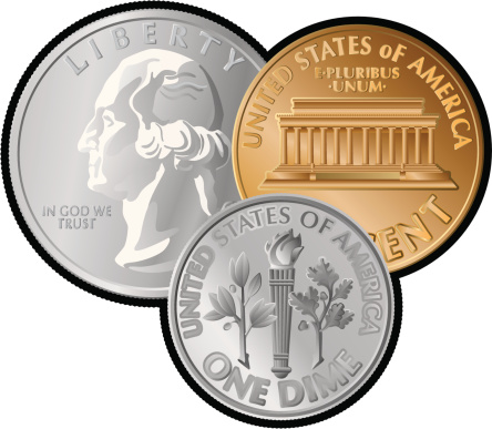 444x387 Nickel Clipart Coin Clip Art Gold Coins 2 3