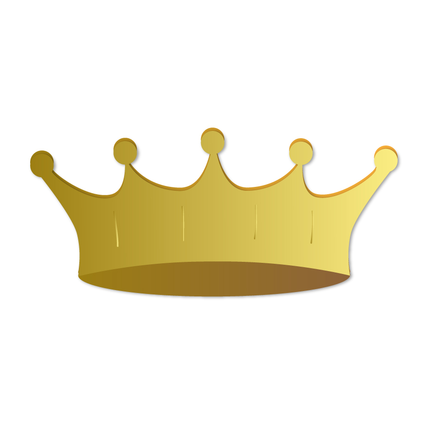 900x900 Gold Crown Free Vector 123freevectors